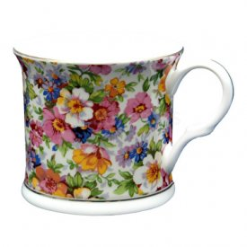 mugg i tunnt porslin-Royal Chintz