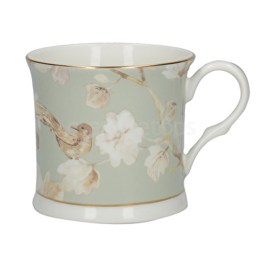 Duck Egg Floral Bone China-mugg