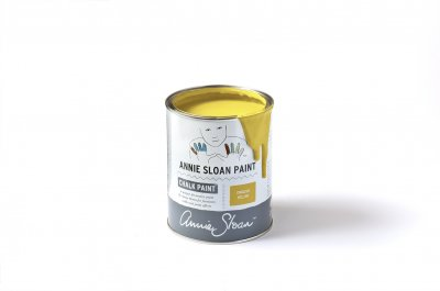 English Yellow chalk paint burk